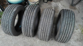 Roadstone tyres set 205/55 R16 91V second hand for sale