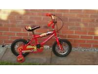 Cars 12 inch wheel bike with stabilizers