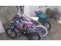 Grab a Bargain Job lot Three Children's bikes. Two girls One boys.