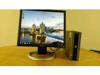 Dell Optiplex Ultra Small Desktop Computer PC & Dell LCD 19 Monitor - Bargain