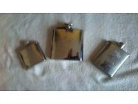 3 Hip Flasks