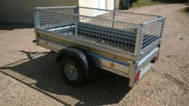 7' x 4' Trailer with mesh sides (750kg category)