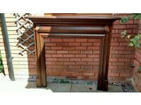 Fireplace Mantel Surround Mahogany by Flaming Fires Fireplaces & Stoves 54 inch