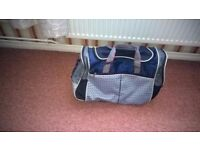 large holdall lots of compartments excellent conditon grey/blue