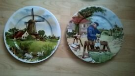 A pair of ornamental Dutch plates