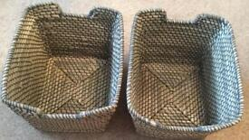 Two Storage Wicker Baskets
