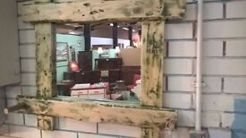 Hand Crafted Rustic Mirror