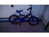 "Boys Max Bike- 12"" wheels, with optional stabilisers. Like new, barely used. Black & blue"