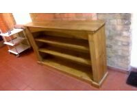 Solid wood shelving unit excellent central London bargain