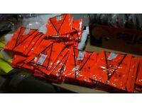 57 brand new hi viz vest orange and yellow