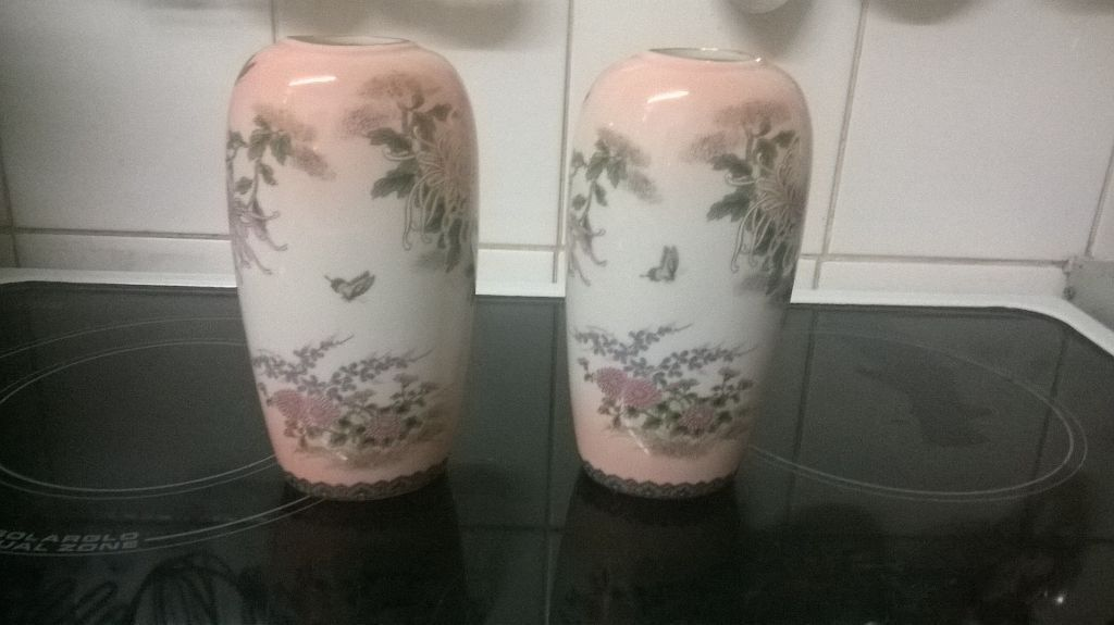 St Michael Made In Japan Vases 1987 In Bedworth Warwickshire