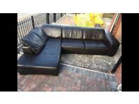 L Shaped Sofa Genuine Leather