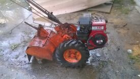 2 Howard Rotavators 350 model with Briggs Stratton engine working and 300 model for spares