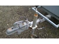 CAR TRAILER 6.6 FT X 4FT GALVANIZED BODY /CHASS has spare wheel /droop down back door