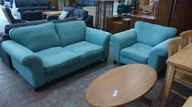 Mint Green dfs 2 Seater Sofa and Armchair