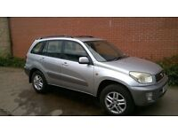 2001 SILVER TOYOTA RAV4 2.0GX- 5DR, 2 PREVIOUS OWNERS -COVENTRY