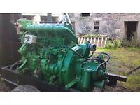 Marine engine, Kelvin T4 and gearbox.