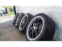 BBS RK504 17 Split rims 5x100 wheels (golf, polo,shirocco,vrs,seat,lupo)