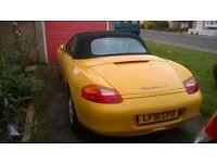 Porsche boxster s speed yellow 2001,