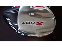 callaway 10.5 regular shaft driver with new head cover