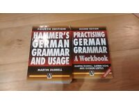 German grammar textbook and work book. Hammers.