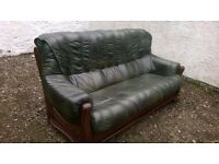 Green Leather Sofas