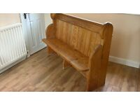 church pew solid pine