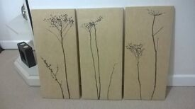 set of 3 canvases