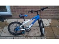 Raleigh Hotrod 20inch wheel Boys Mountain Bike, 6 speed, suitable for 6-8 year old