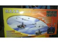 original m.a.s.h rc helicopter brand new in box never been flown