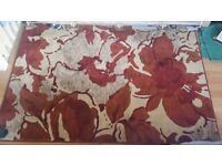 Rug - Large, beautiful and soft. Red and cream
