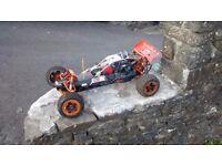 Km Baja 29cc 1/5 scale 2 stroke RC car not hpi traxxas losi