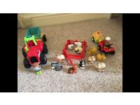 Happy land light and sounds tractor and farm animals