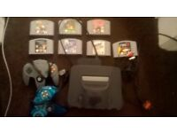 N64 Console games 3 controllers expansion pack memory card and games