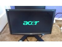 3x acer dell gnd lcd monitors computer pc