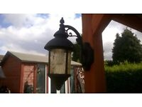 LOVELY METAL AND THICK GLASS GARDEN LIGHT