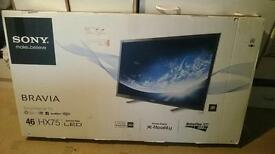"Sony KDL-46HX753 46"" Full HD 1080p 3D DLNA Smart Freeview HD LE"