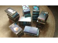 large bundle recordable vhs video tapes