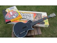 Xbox Guitar Hero III Legends of Rock boxed complete with Les Paul Guitar and Flame front plate