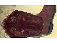 Lucchese 2000 Lizard Skin Cowboy Boot Size 6.5