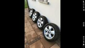 4 x Silver Alloy Wheels with Tyres