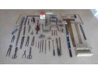 Vintage Collection of 47 Old Fashioned Woodworking Tools
