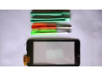 New Nokia Lumia 520 touch screen digitizer and frame with tools