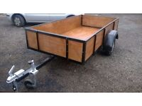 CAR TRAILER just built all new 8 FT X 4 FT 750 KG CARRYING FOLD DOWN B/DOOR