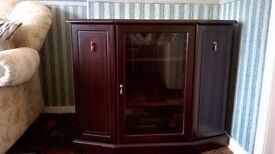 Mahogany small living room unit £45