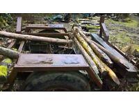 fire wood pole trailer