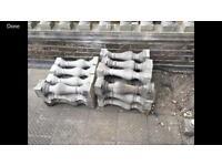 22x cast concrete grey stone balustrade