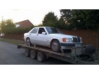 £400 Wanted Mercedes 190D W201 190 2.0 2.5 manual diesel 200D 250D W124 200 250 breaking braking TD