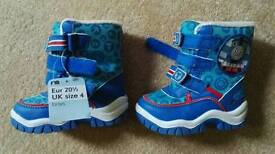 Mother Care baby boy boots, size 4, new