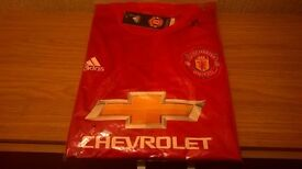 'ADIDAS' MAN UTD FOOTBALL SHIRTS, ADULT SIZES, NEW-SEALED, COLLECTION/DELIVERY. TEL.07803366789